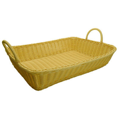 "Winco PWBN-1914T 19"" X 14"" X 4"" Woven Basket [Pack of 3]"