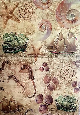 Rice Paper for Decoupage Scrapbooking Sheet Craft Vintage Old Sea World Art C49