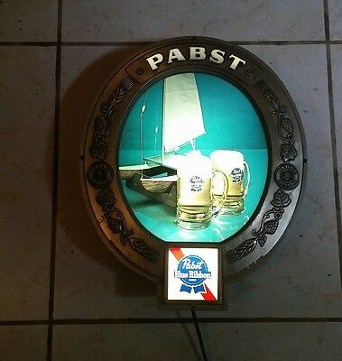 Pabst Blue Ribbon Beer Light Lamp 16 X 13 Rare Working