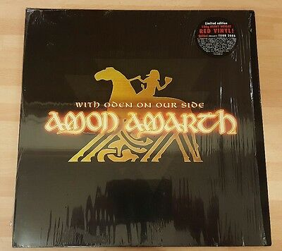 Amon Amarth 'with Oden On Our Side' Red Vinyl Lp