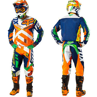 Completo Motocross / Dirt Bike Kit - Gear Set Fox 360 Divizion + REGALI / GIFTS