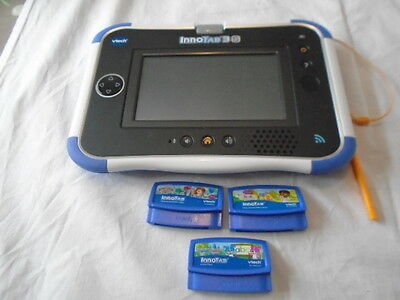 vtech innotab 3S Console cartridge educational tablet + 3 games VERY GOOD COND