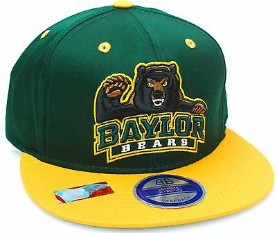 70d17a362aa ... wholesale baylor bears ncaa authentic flat bill visor green yellow gold snapback  hat cap fa52a fdc8b