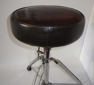 Drum Throne / Stool - Pearl base and brown comfortable round seat