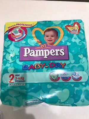 PAMPERS baby dry pannolini 10 CONFEZIONI assortite (tag. 2-3-4-5-6)