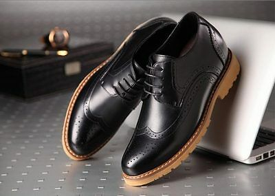MIGL-Elite – Brogue Handmade Leather Shoes 8cm Taller