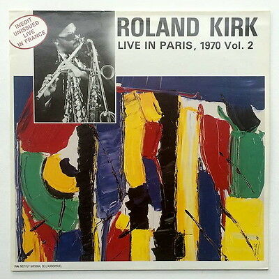 ROLAND KIRK Live In Paris 1970 Vol 2 JAZZ LP Esoldun