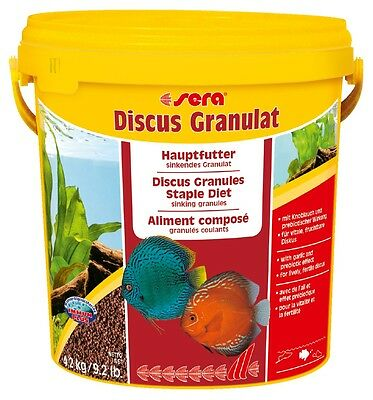 ~ Sera DISCUS GRANULAT ~ Top Quality Food With Garlic For All DISCUS, CICHLIDS