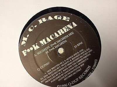 M. C. Rage* ‎– F**k Macarena - Hard-Up Records ‎– Q-DUP007