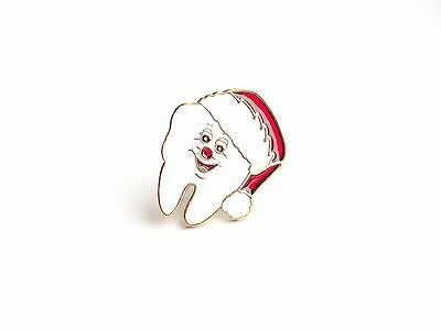 Dentist Santa's Tooth Lapel Pin (D008)