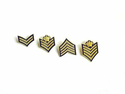 Royal Canadian Mounted Police Rank Insignia Pins (Gold Colour)