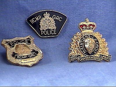 RCMP Crest Pin, Wallet Badge Pin and ERT Shoulder Patch Pin