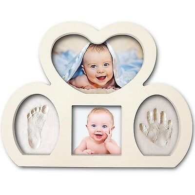 Best Newborn Babyprints Kit - Baby Handprint and Footprint Photo Frame Keepsa...