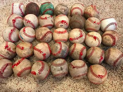 Lot of 33 practice league used baseballs with defects  C Grade FREE SHIPPING