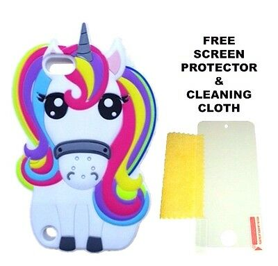 3D Cartoon Rainbow Unicorn Soft Silicone Case For Apple iPod Touch 5th & 6th Gen