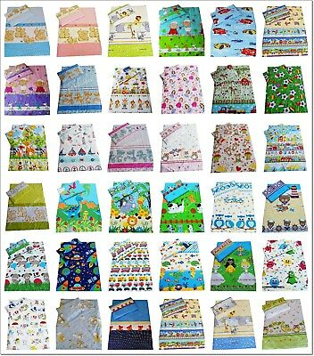 Nursery Cot Bed Baby Bedding Set Duvet Cover Pillowcase Girls Boys 100 x 135