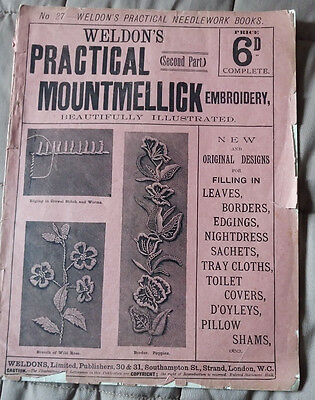 Weldon's Practical Mountmellick Embroidery No. 27 early 1900s vintage craft book