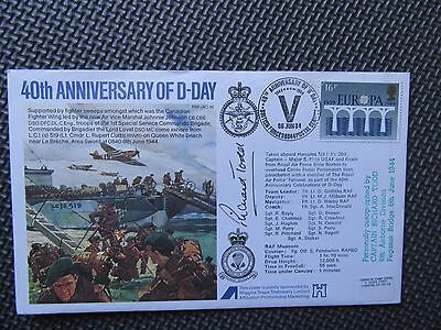 RAF (AC) 10 40th Anniv. Of D-Day Signed 'Richard Todd' 6th Airborne / Pegasus