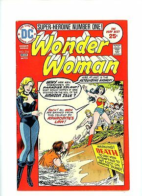 """1974 DC """"Wonder Woman"""", # 216, Justice League storyline Black Canary, VF, BX70"""
