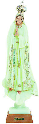 Our Lady of Fatima Statue Religious Figurine Virgin Mary Glow in the Dark - 18""