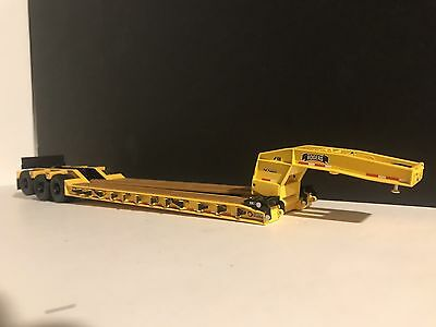 1:50 Sword WSI Rogers 3 Axle Lowboy Trailer Yellow With Black Wheels Custom