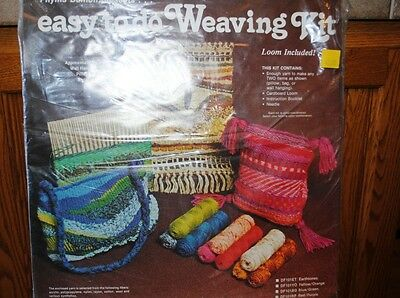 Vintage Weaving Kit Phyllis Damon Wall Hanging Pillow or Bag Loom Included NOS