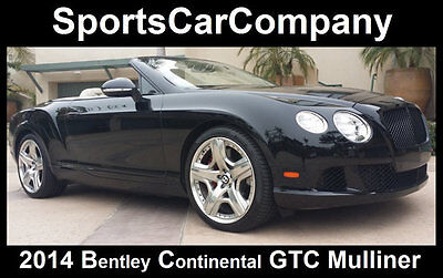 2014 Bentley Continental GT  2014 BENTLEY CONTINENTAL GTC W12 MULLINER EDITION! LOADED LOW MILE SHOWSTOPPER!
