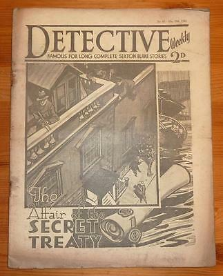 DETECTIVE WEEKLY No 65 19TH MAY 1934 THE AFFAIR OF THE SECRET TREATY, S BLAKE