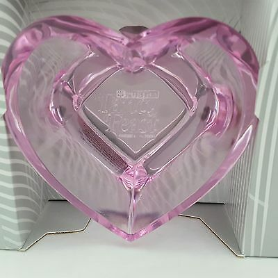 Purina Fancy Feast Cat Food Dish Bowl Pink Heart Shaped Acrylic New In Box