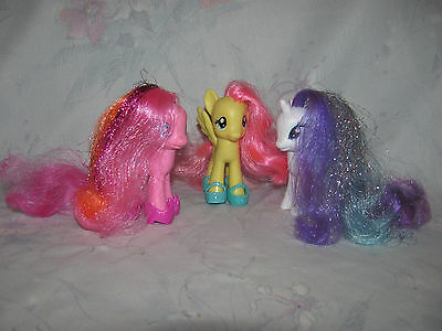 MLP My Little Pony G4 Tinsel Hair Pinkie Pie, Fluttershy, Rarity - Shoes