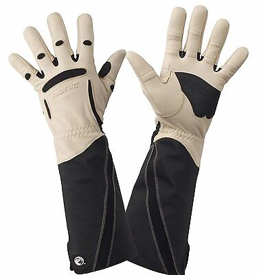 2 x Bionic Men's Gauntlet Protective Gloves. Leather & ToughEx Thorn Resistant