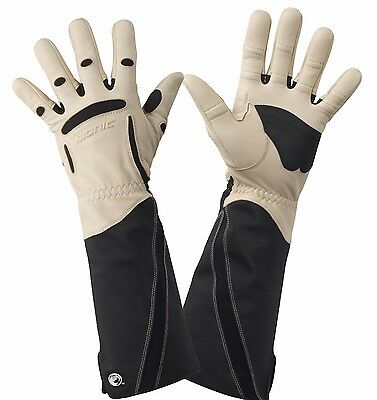 4 x Bionic Men's Gauntlet Protective Gloves. Leather & ToughEx Thorn Resistant