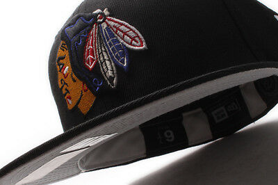 Chicago Blackhawks (black/blue) New Era 59Fifty Fitted
