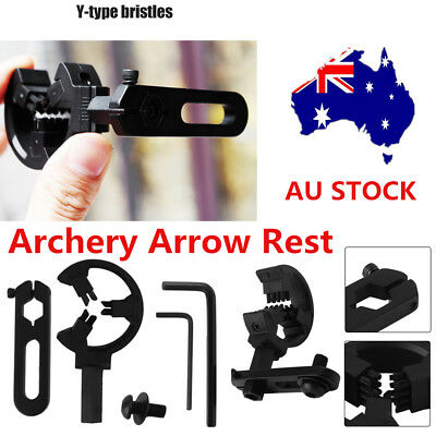 Archery Compound Bow Brush Capture Arrow Rest Hunting Alloy Right/Left Hand GC#