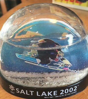 2002 Salt Lake City Winter Olympics Mascots Snow Globe no box