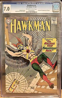 Hawkman #4 (DC, 1964) CGC 7.0 Origin/1st Zatanna;Justice League Dark