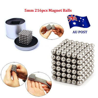 5mm 216pcs Magnet Balls Magic Beads 3D Puzzle Ball Sphere Magnetic toy child BBO