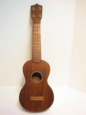 Vintage Sam F. Chang Uke Ukulele Honolulu Hawaii Koa