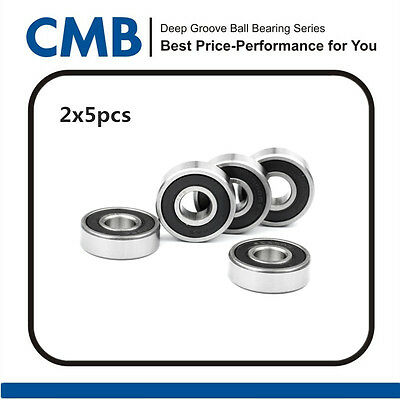 10pcs 6004-2RS Deep Groove Rubber Sealed Ball Bearing 20x42x12mm New