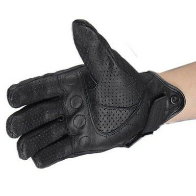 1 Pair Universal Motorcycle Riding Mesh Leather Protective Armor Gloves Black  M