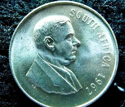 1967 South AFrica One RAnd Silver BU/ UNC condition  A20-538