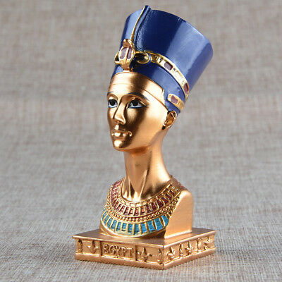 QUEEN OF NILE Hand Painted Tabletop Resin Relax Spiritual Meditation Decor