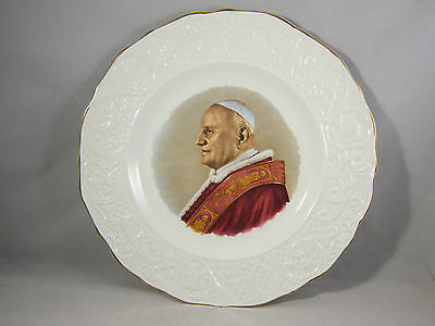 Vintage Pope John XXIII (23rd) Collector Plate Marborough Old English Ironstone