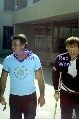 Robert Conrad Red West With Crutches Elvis Bodyguard Rare Unseen Press Photo