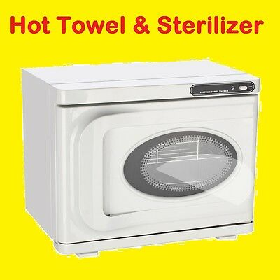 23 Litre Hot Towel Warmer Sterilizer UV Bulb Steam Steriliser, Barber Spa Salon