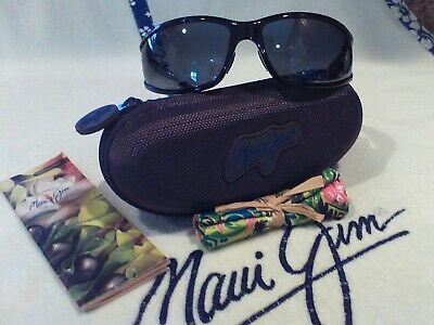 "Maui jim/""OFFSHORE/"" 444-02 GLOSS BLACK//GRAY LENS,BRAND NEW IN CASE,RARE FIND!"