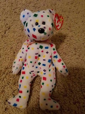 """NEW ty beanie baby """"Ty 2k"""" -RETIRED with multiple errors"""