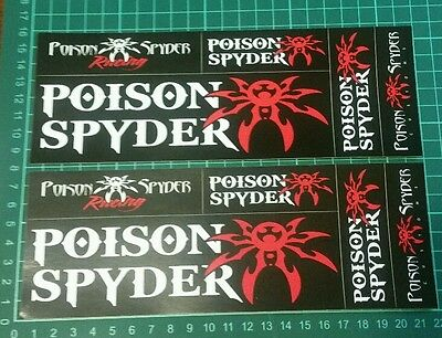 POISON SPYDER racing decals stickers nhrda drags diesel offroad trucks jeeps