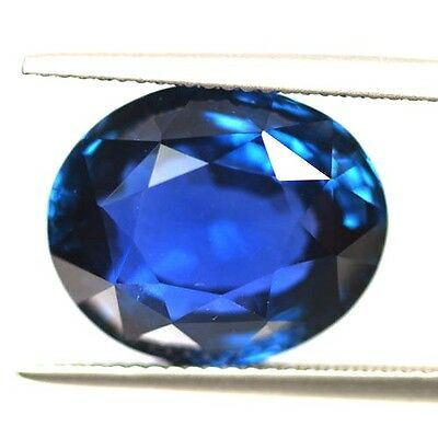 15.05 Ct Grs Certified Unheated Blue Sapphire Natural Fine Quality Vdo
