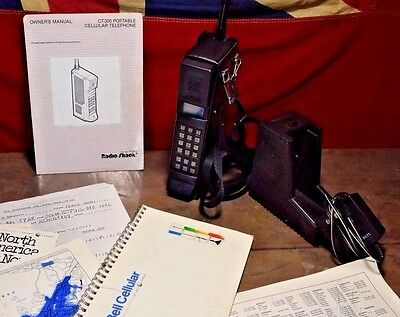 Vintage Radio Shack Tandy Cell phone CT-300 Brick Early cellphone Rare